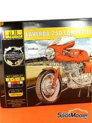 Heller: Model bike kit 1/8 scale - Laverda 750 SFC Competition 1971 - plastic model kit image