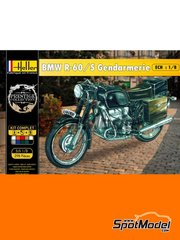 Heller: Model bike kit 1/8 scale - BMW R-60/5 Gendarmerie - plastic parts, water slide decals, other materials and assembly instructions