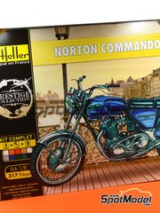 Heller: Model bike kit 1/8 scale - Norton Commando 750 Roadster