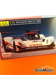 Heller: Model car kit 1/24 scale - Peugeot 905 Evo 1 Bis Esso #5 - Yannick Dalmas (FR) + Keijo Erik 'Keke' Rosberg (FI), Phillippe Alliot (FR) + Mauro Baldi (IT) - World Championship 1991