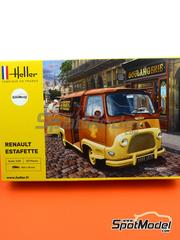 Heller: Model van kit 1/24 scale - Renault Estafette - plastic parts, rubber parts, water slide decals, assembly instructions and painting instructions