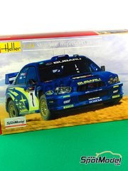 Heller: Model car kit 1/24 scale - Subaru Impreza WRC #7 - Petter Solberg (NO) + Phil Mills (GB) - Chypre Rally 2003 - plastic parts, rubber parts, water slide decals, assembly instructions and painting instructions