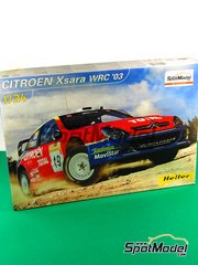 Heller: Model car kit 1/24 scale - Citroen Xsara WRC Telefonica Movistar #19 - Carlos Sainz (ES) + Marc Martí (ES) - Turquie rally 2003