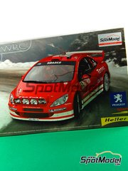Heller: Model car kit 1/24 scale - Peugeot 307 WRC Total #5 - Marcus Grönholm (FI) - Alsace France Rally 2004