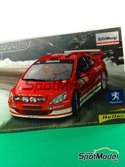 Heller: Maqueta de coche escala 1/24 - Peugeot 307 WRC Total Nº 5 - Marcus Grönholm (FI) - Rally de Francia 2004 - maqueta de plástico