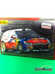 Heller: Model car kit 1/24 scale - Citroen C4 WRC Total #1, 2 - Sebastien Loeb (FR) + Daniel Elena (MC), Daniel 'Dani' Sordo (ES) + Vallejo - Alsace France Rally 2010