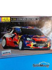 Heller: Maqueta de coche escala 1/24 - Citroen DS3 WRC Nº 1 - Sebastien Loeb (FR) + Daniel Elena (MC) - Rally de Francia 2012 - maqueta de plástico
