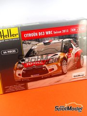 Heller: Model car kit 1/24 scale - Citroen DS3 WRC Abu Dhabi - Mikko Hirvonen (FI), Sebastien Loeb (FR), Sébastien Ogier (FR), Daniel 'Dani' Sordo (ES) - Alsace France Rally 2013