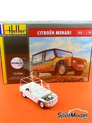 Heller: Maqueta de coche escala 1/24 - Citroën Mehari - maqueta de plástico