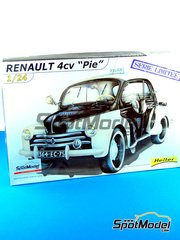 Heller: Model car kit 1/24 scale - Renault 4CV Pie 1955