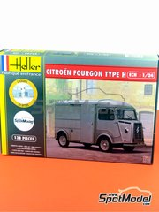 Heller: Model van kit 1/24 scale - Citroën Type H - plastic parts, rubber parts, water slide decals, assembly instructions and painting instructions