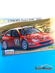 Heller: Model car kit 1/24 scale - Citroen Xsara WRC Total #14 - Philippe Bugalski (FR) + Jean-Paul Chiaroni (FR) - Catalunya Costa Dorada RACC Rally 2001