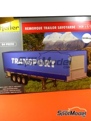 Heller: Trailer kit 1/24 scale - Classic Canvas Trailer - plastic model kit image
