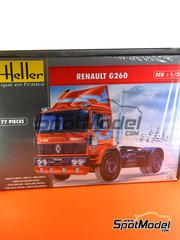 Heller: Model truck kit 1/24 scale - Renault G260 - plastic parts, rubber parts, water slide decals and assembly instructions