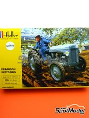Heller: Model tractor kit 1/24 scale - Ferguson TE-20 tractor - plastic parts, rubber parts, water slide decals and assembly instructions