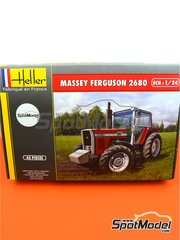 Heller: Model tractor kit 1/24 scale - Massey Ferguson 2680 - plastic parts, rubber parts, water slide decals, assembly instructions and painting instructions