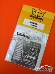 Highlight Model Studio: Tools 1/24 scale - Tool set - photo-etched parts