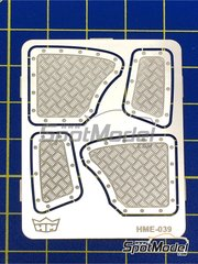 Highlight Model Studio: Detail up set 1/24 scale - Aluminium rear panels for Volkswagen Beetle - photo-etched parts - for SpotModel reference DISCONTINUED-031, or Tamiya references TAM24136 and 24136