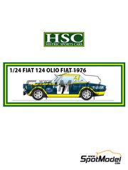 Histric Sports Cars: Model car kit 1/24 scale - Fiat 124 Abarth Olio #7 - Markku Alén (FI) + Ilkka Kivimäki (FI) - Montecarlo Rally 1976 - Multimaterial kit