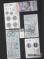 Hobby Design: Photo-etched parts 1/12 scale - Honda NSR500 1984 - photo-etched parts, metal parts - for Tamiya kit TAM14121