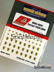 Hobby Design: Detail 1/24 scale - Ferrari emblems stickers