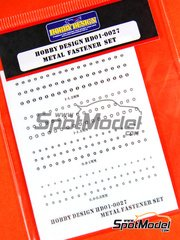 Hobby Design: Detail - Metal fastener set - photo-etched parts