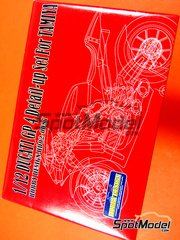 Hobby Design: Photo-etched parts 1/12 scale - Ducati Desmosedici GP4 - Motorcycle World Championship 2004 - photo-etched parts and metal parts - for Tamiya reference TAM14101