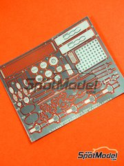 Hobby Design: Photo-etched parts 1/24 scale - New Fiat 500 - for Fujimi kit image
