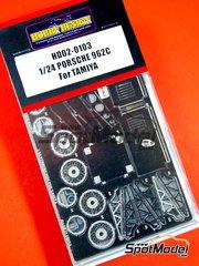 Hobby Design: Fotograbados escala 1/24 - Porsche 962C - para kits de Tamiya TAM24233 y TAM24313