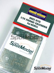 Hobby Design: Photo-etched parts 1/24 scale - Ferrari California - for Revell kit