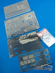 Hobby Design: Photo-etched parts 1/20 scale - Ferrari 312T2 Fiat - photo-etched parts and metal parts - for Hasegawa kit