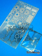 Hobby Design: Photo-etched parts 1/24 scale - Lexus LFA - for Tamiya reference TAM24319