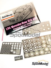 Hobby Design: Photo-etched parts 1/24 scale - Mercedes Benz SLS AMG - for Fujimi reference FJ123929