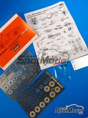 Hobby Design: Photo-etched parts 1/24 scale - Lamborghini Aventador - for Fujimi reference FJ125589