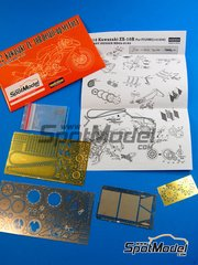 Hobby Design: Photo-etched parts 1/12 scale - Kawasaki ZX-10R