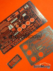 Hobby Design: Photo-etched parts 1/24 scale - Citroen C4 WRC - for Heller reference 80756