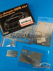 Hobby Design: Photo-etched parts 1/24 scale - Lamborghini Reventon - photo-etch and resins - for Fujimi reference FJ125596