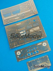 Hobby Design: Photo-etched parts 1/24 scale - Ferrari F12 Berlinetta - for Fujimi references FJ125626, 125626, RS-54, FJ125664, 125664, 12566, RS-SP0T, RS-SPOT, RSSP-0T and RSSP-OT