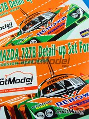 Hobby Design: Photo-etched parts 1/24 scale - Mazda 787B - photo-etch, resins and metal pieces - for Tamiya kit