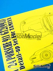 Hobby Design: Photo-etched parts 1/24 scale - Porsche 911 993 GT2 - photo-etch, resins and resin pieces - for Tamiya references TAM24175 and TAM24247