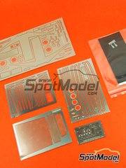 Hobby Design: Photo-etched parts 1/24 scale - Ferrari 512TR - photo-etch and resins - for Fujimi references FJ123554 and FJ125909