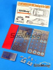 Hobby Design: Photo-etched parts 1/24 scale - Mitsubishi Lancer EVO V WRC - resins and photo-etched parts - for Tamiya reference TAM24203