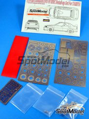 Hobby Design: Photo-etched parts 1/24 scale - Mitsubishi Lancer Evo VI WRC - resins and photo-etched parts - for Tamiya reference TAM24220