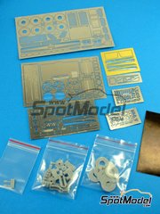Hobby Design: Photo-etched parts 1/24 scale - Ferrari Laferrari - resins and photo-etched parts - for Tamiya kit TAM24333 image