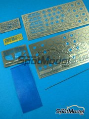 Hobby Design: Photo-etched parts 1/24 scale - McLaren F1 GTR Long Tail - photo-etched parts and metal parts - for Fujimi references FJ12579, FJ12580, FJ12581 and FJ12582 image