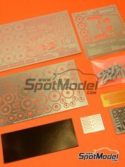 Hobby Design: Photo-etched parts 1/24 scale - Aston Martin DBS - photo-etched parts and resins - for Tamiya reference TAM24316