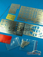 Hobby Design: Photo-etched parts 1/24 scale - Mclaren F1 GTR Long Tail - photo-etched parts, metal parts and resins - for Aoshima kits