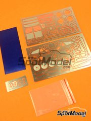 Photoetches 1/24 by Hobby Design - Nissan R390 GT1 - photoetches + metal parts for Tamiya kit TAM24192 image