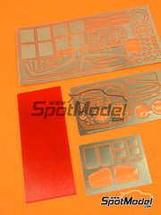 Hobby Design: Photo-etched parts 1/24 scale - Toyota GT-One TS020 - photo-etched parts and resins - for Tamiya reference TAM24222