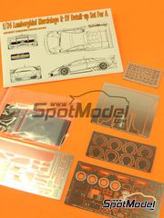 Hobby Design: Photo-etched parts 1/24 scale - Lamborghini Murcielago LP670 R-SV - photo-etched parts, resins and metal parts - for Aoshima kit AOSH-007082